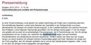 debattiersalon | Screenshot Pressemitteilung Polizei Berlin | B-NOTE