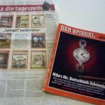 debattiersalon | Hitler-Titelseiten von taz und Spiegel | Foto © Marcus Müller 2013