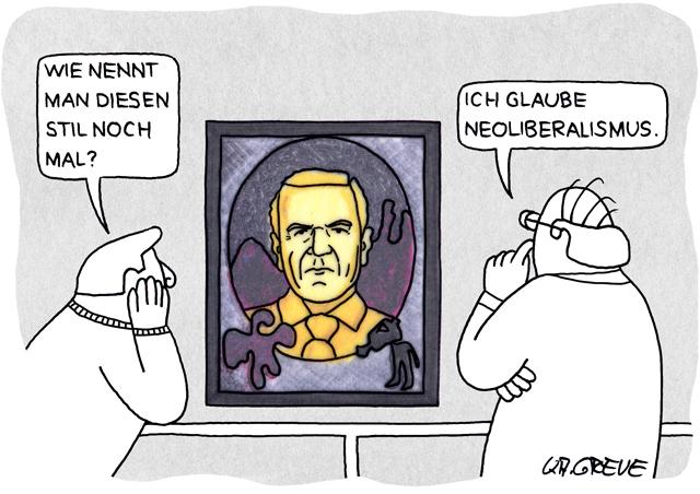 Politblog debattiersalon | Cartoon SPD Neoliberalismus | © Katharina Greve 2013