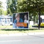 Politikblog debattiersalon | #btw13 Kanzlerin Angela Merkel Miss Germany Whalplakat CDU Berlin | Foto: Marcus Müller © 2013