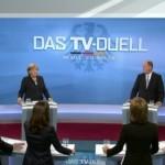 debattiersalon | Merkel und Steinbrück im TV-Duell Zehn Gründe wählen zu gehen Bundestagswahl | Screenshot: Phoenix