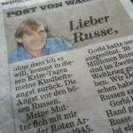 Post von Wagner, BILD-Zeitung