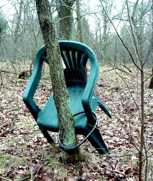 Politblog debattiersalon | DEUTSCHLANDBILD: Ein ganz besonderer Gartenstuhl - oder ist die German Angst schon im Wald angekommen? | Foto: Marcus Müller © 03/2015